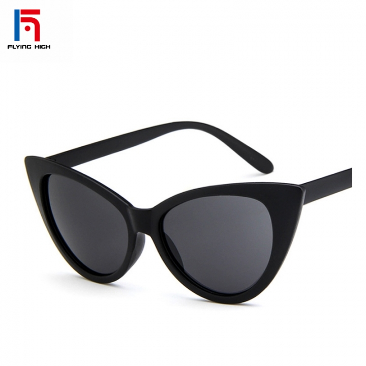 FH Brand  Fashionable cat eye sunglasses sexy vintage glasses BLACK one size