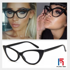 FH Brand  Fashionable cat eye sunglasses sexy vintage glasses WHITE one size