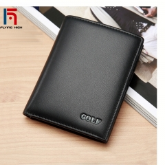 FH Brand Golf Men Authentic fashion luxury business casual double layer real cow leather wallet. one color one size
