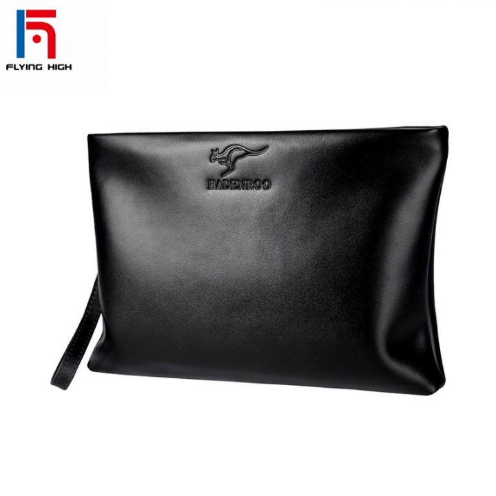 FH Fashion Men Long Wallets Business Leisure  Leather Handbag Multi-functional Hand Bags Wallets one color one size
