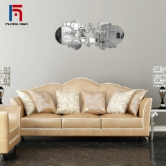FH Brand Fashionable 3D Living Room Mirror Adornment Ornament Background Wall Can Remove Wall Stick ONE ONE