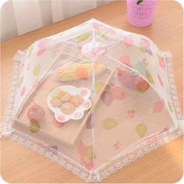 FH Brand Foldable Mesh Screen Food Cover , Collapsible  Food Cover,Keep Out Flies, Bugs, Mosquitoes one small