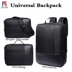 FH Brand Men's  Bag Briefcase,All-purpose business, leisure .Single shoulder /shoulders/portable bag black one size