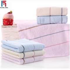 FH Brand cotton towel /High-quality /Soft comfortable  ,home living bathroom products 33*72cm 3pcs pink one size