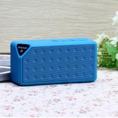FH Brand  Bluetooth Wireless Speaker Portable  Callphone TF FM Radio Mic MP3 Music Sound Subwoofer Blue 13*4*6cm