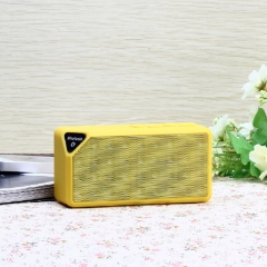 FH Brand  Bluetooth Wireless Speaker Portable  Callphone TF FM Radio Mic MP3 Music Sound Subwoofer Yellow 13*4*6cm