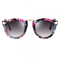 FH Brand 2018 New Hot Sell  Women's Fashion Sunglasses Classic Fashion Accessories flower color one size