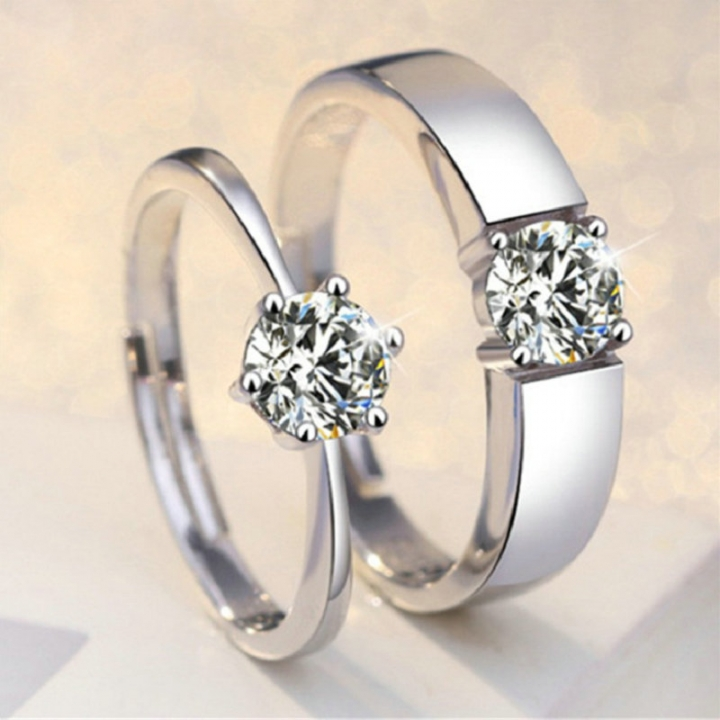 FH Brand Charm  1 Pack Classic Diamond Rings Women OR Men Fashion Jewellery one women