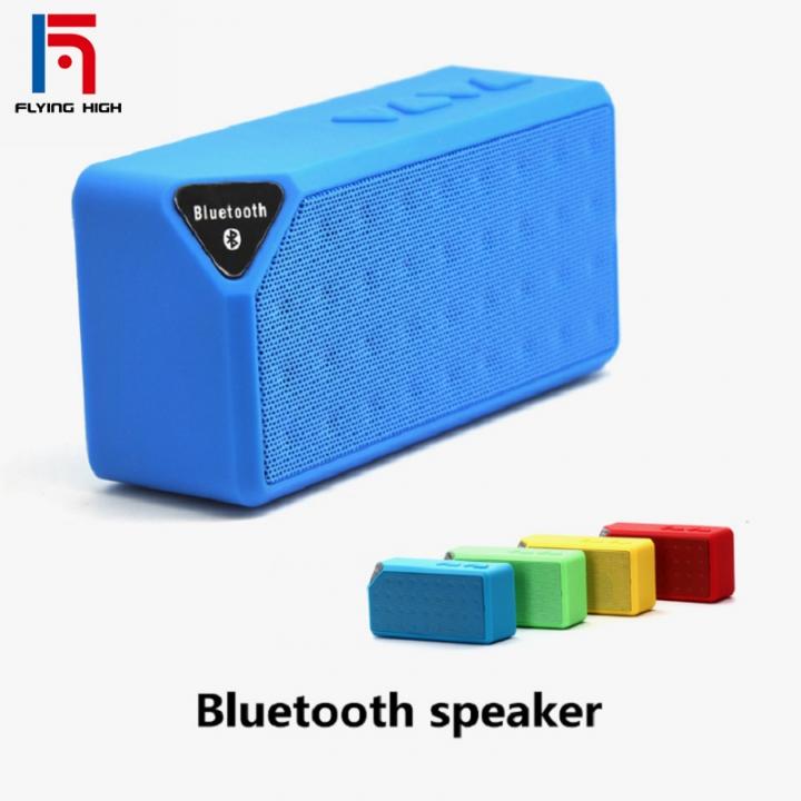 FH Brand  Bluetooth Wireless Speaker Portable  Callphone TF FM Radio Mic MP3 Music Sound Subwoofer blue one size