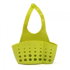 FH Brand Button-type Silicone Hanging Basket Kitchen Sink Bathroom Storage Bag random one