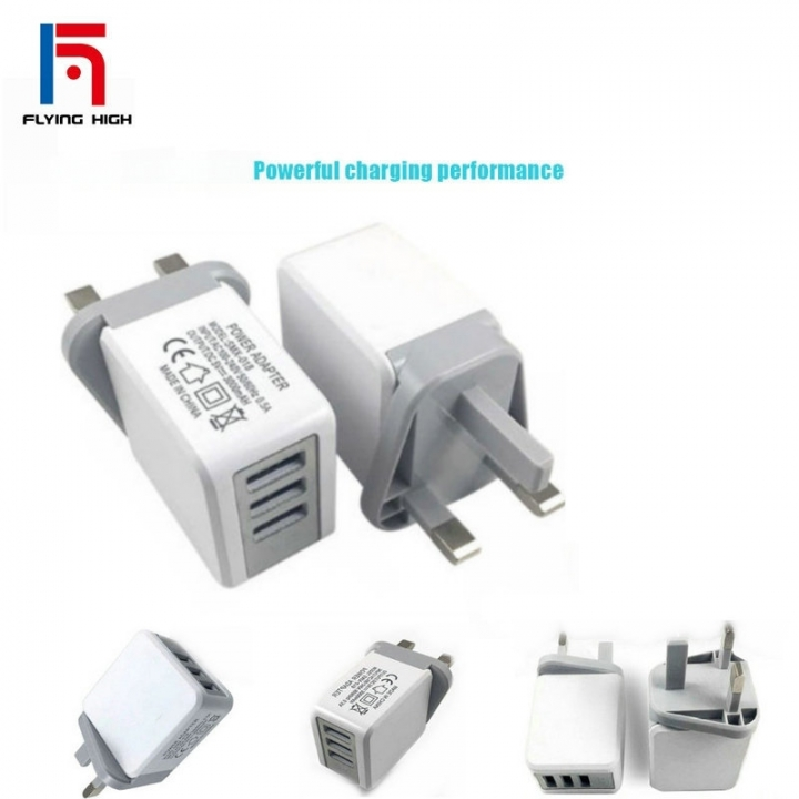 FH Brand 3USB British Chargers Large Current Direct Charge Multiple Intelligent Quick Chargers one one