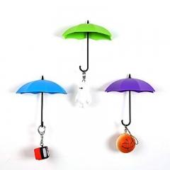 FH Brand Umbrella Key Hat Wall Holder Multipurpose Holder Hanger Hooks(3) random