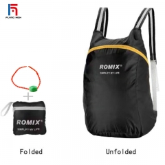 FH Colorful FoldingPortable Backpack  Fashion Strong Bags Suitable For Running, Climbing and Camping Green 18L