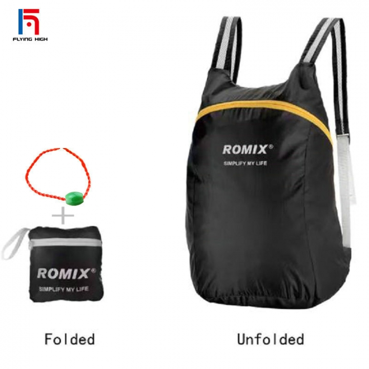 FH Brand ROMIX  Folding  portable  backpack rugged compact and easy to add more fun for your life black