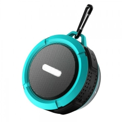 FH Brand Wireless Waterproof Speaker with 5W Driver, TF Hands-Free Speakerphone Blue 9*2*15