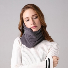 FH Brand Scientifically Proven Super Soft Neck Support Travel Pillow - Machine Washable Gray