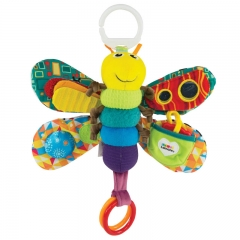 FH Brand  Stuffed  Firefly Multi-functional Baby  Plush  Musical Sensory Toy (No Batteries Required) Colorful 26*6.6cm