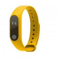 FH Brand M2 Smart  Bracelet Compatible IOS&Adroid Bluetooth4.0 Waterproof Smart Watches standby 240h Yellow 300 Hours