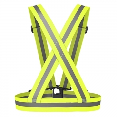 FH Reflective Vest Elastic & Adjustable ReflectiveGear High Visibility for Cycling,Motorcycle Safety Yellow