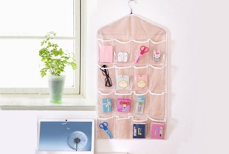 FH Brand 16 Grids  Buggy Bag Receive Underwear and Socks Storage Organizer Save Vertical Space Random 9
