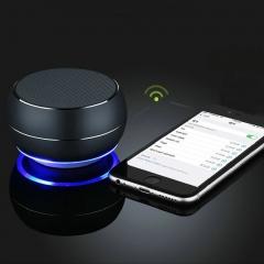 FH Brand Wireless Bluetooth SD/TF  Metal Mini Sound Box Subwoofer Phone/Computer/ Laptop Speaker Black 8 HOUR Wireless