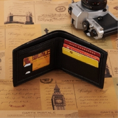 FH  Fashion Men Business wallet Leisure short leather  Wallet Multi-function Simple Personalit one color one size
