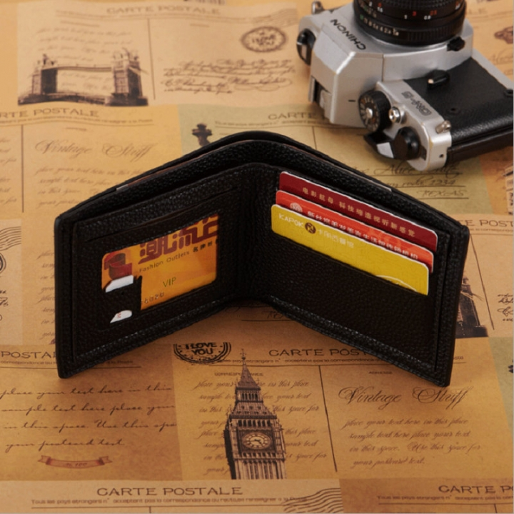 FH  Fashion Men Business Wallets Leisure short leather  Wallet Multi-function Simple Personalit one color one size