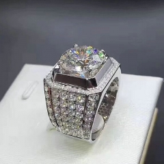 FH Brand  Hot Sell Fashionable Men Ring  New Rock and Roll Man Diamond Ring For All Occasions ONE SIZE 10
