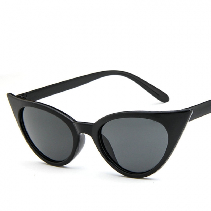 FH Brand  Fashionable Sunglasses Cat Eye Glasses Sexy Stylish Vintage   Glasses BLACK one size
