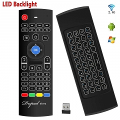 FH Brand 2.4G Backlit Remote Control,Mini Wireless Keyboard Best for Android Smart Tv-Box PC Xbox
