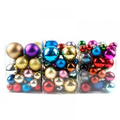 FH Brand 38 pcs Christmas Balls Baubles Party Xmas Tree Decorations Hanging Ornament Decor Random 24*12*12cm