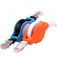 FH 2pacs 1M Auto Stretching Network Cable High Quality Suitable For Laptop/Printer/Router/Modem