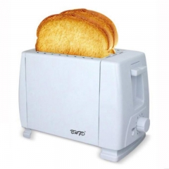 FH Brand Toaster 2 Slice, 6-shade Setting Timing Breakfast Bread Two Slice Toasters Quickly Toasts White 25*13*17cm