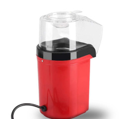 FH 1200W Mini Electric Popcorn Maker Hot Air Oil-free Popcorn Popper Household Fast Popcorn Machine Red