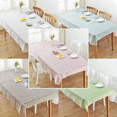 FH Waterproof Nordic Grid Style Table Cover Durable Plastic Tablecloth Perfect Fit for Any Table Multicolor Random 137*90cm