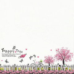 FH Removable Wall Stickers Wallpaper The Giving Tree Wall Stickers For Children's Room /Living Room Colorful 70cm*50cm