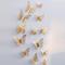 FH Butterfly Wall Stickers 12 Pcs 3D Wall Stickers Wallpaper FridgeforWalls/Doors/Metal/Tiles Gold 12cm/10cm/8cm
