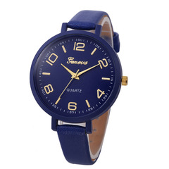 FH Brand Fashion Thin Belt Women Quartz Watches For Students and Lady Blue 22cm