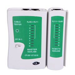 FH Network Tester Tool Network Lan Cable Tester Detector, Network Wire Tracker For RJ45 RJ11 RJ12 Default 11*11*3