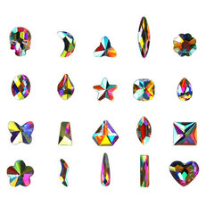 FH 30 Pack Multi-Colored Shining Diamond, DIY Art Decorations Crystals For Nail\Phonecover\Shoes\Bag Colorful