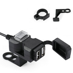 FH 12V Dual USB Port Power Socket 2.1A Waterproof Mobile Charger For Motorcycle Car Boat Marine