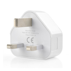 FH Plugs - Universal Port USB Power Adapter 5V 1A UK Electrical Plug Charger For iPhone Adaptor White 1 Port