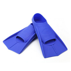 FH Long Webbed Diving Fins Swimming Scaffolding Snorkeling Frog Shoes Flippers Duck Palm Blue XL