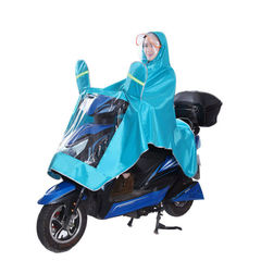 FH Extra Large Lengthen Waterproof Motorcycle Scooter Rain Hoodie Coat  Full Protection with Visor