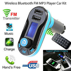 FH Bluetooth Car FM Transmitter MP3 Player Radio Adapter Kit USB Charger 2 Outlets