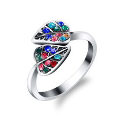 FH Fashionable Lady's Rings, Exquisite&Contracted Bohemian Design Diamond Ring For Women Accessories Colorful 7