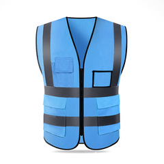 FH Safety Vest With Reflective Strips&Pockets Suit for  Men&Women, Reflective vests Blue