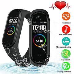 FH 3 Color Screen Smart Bracelet Smartband Heart Rate/Sleep Monitor Bluetooth Waterproof Smart Band Black M4