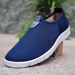 Summer breathable fashion casual shoes mens shoes blue 40