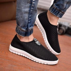 The new summer mens shoes fashion casual shoes breathable mesh shoes black 42